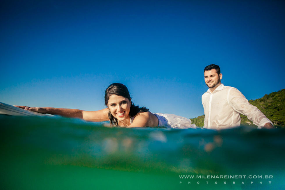 Trash The Dress | Natália + Filipe | Floripa